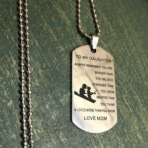 Jewelry - ♡♡3/$15 Mom to Daughter Dog Tag Necklace
